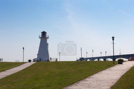 White Lighthouse at coast