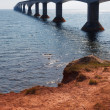 Постер, плакат: Confederation Bridge with clear sky