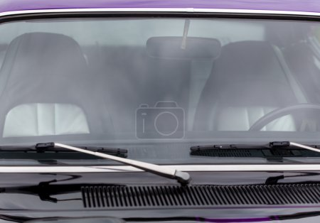 Windscreen wipers of a classic vintage car
