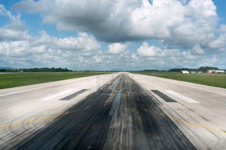 Empty runway of airport