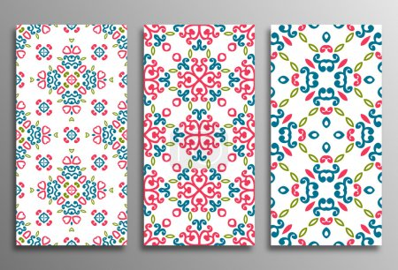 Set vintage universal different seamless eastern patterns (tiling). Endless texture can be used for wallpaper, pattern fill, web page background, surface textures clothes. Retro geometric ornament.
