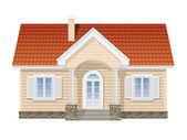 suburban house realistic vector illustration