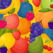 Plody pozadí. barevné šablona pro vaření, restaurace menu a vegetariánské jídlo