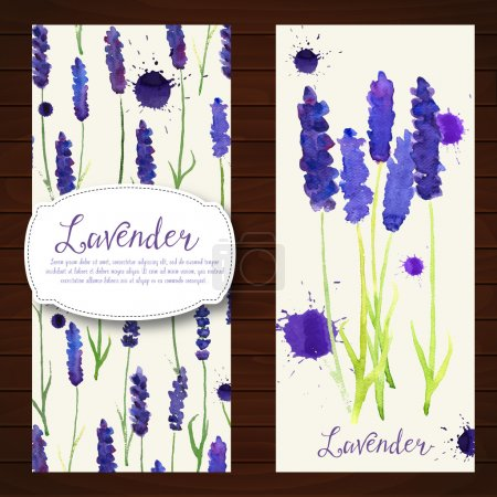 Illustration for Vector illustration with watercolor lavander.  Colorful theme for your design, prints and illustrations - Royalty Free Image