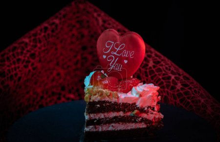 Photo for Cake for the celebration of Valentine's Day - Royalty Free Image