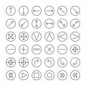 Vector thin icons set for web and mobile Line simple arrows Design elements Illustration in flat style