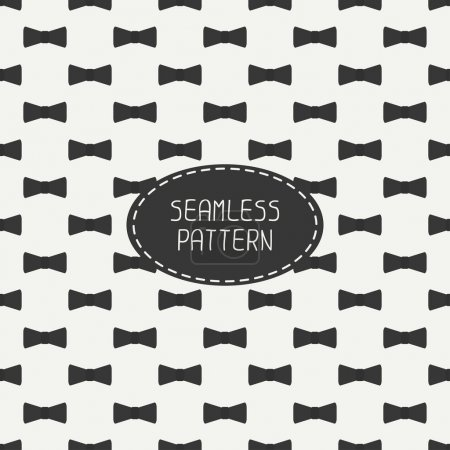 Illustration for Vector seamless retro pattern, with vintage hipster gentleman bow tie. For wallpaper, pattern fills, web page background, blog. Stylish texture. - Royalty Free Image
