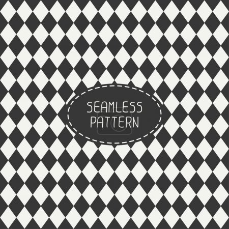 Vector seamless retro pattern with vintage hipster...