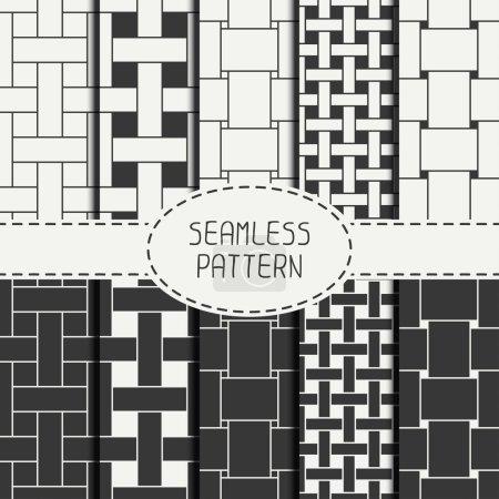 Geometric seamless pattern with intertwined bands....