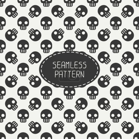 Geometric hipster seamless pattern with skulls and bones. Wrapping paper. Scrapbook paper. Tiling. Vector illustration. Background. Graphic texture for design. Happy Halloween. Trick or treat.