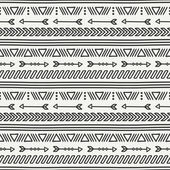 Hand drawn geometric ethnic seamless pattern Wrapping paper Scrapbook paper Doodles style Tiling Tribal native vector illustration Aztec background Stylish ink graphic texture for design