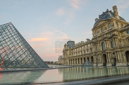 Paris (France). Louvre and Pyramid