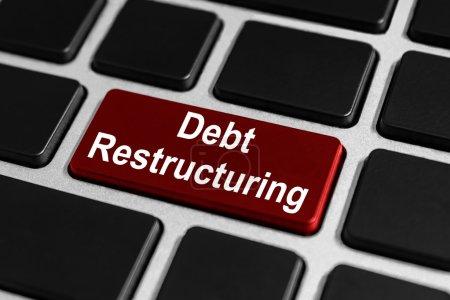 debt restructuring button on keyboard