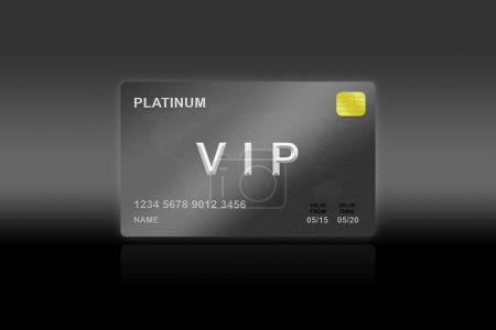 VIP or very important person platinum card