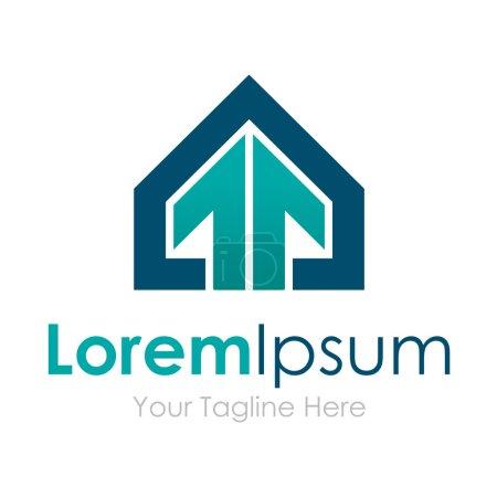 House wins professional stylish arrow up element icons business logo