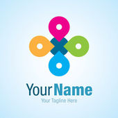 Strong idea changing partnership graphic design logo icon