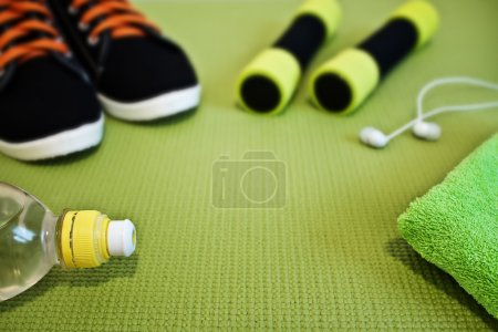 Photo for Sport concept. Accessories for fitness class - Royalty Free Image