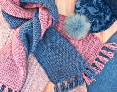Warm knitted women's clothes