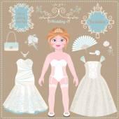Papíru nevěsta. Svatební šaty a doplňky