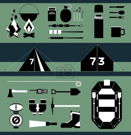 Illustration for Isolated vector elements for travel and camping infographics - Royalty Free Image