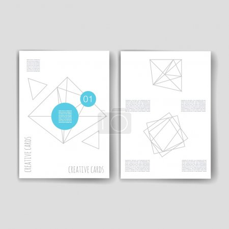 Set of Trendy Abstract Cards with Mystic Logos. Modern Hipster Style for Invitation, Business Contemporary Design. Elements, Placards, Flyer