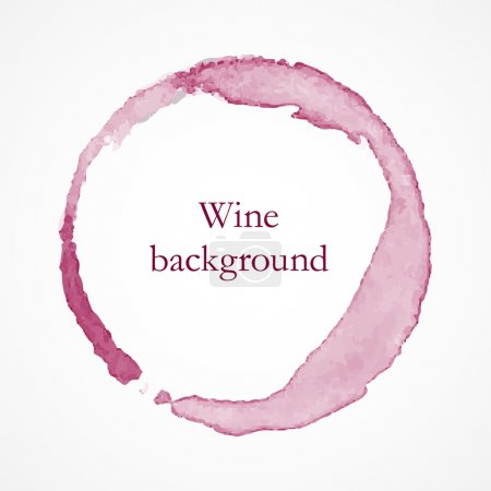 Illustration for Red wine circles, wine concept background - Royalty Free Image