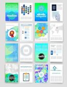 Šablony. Sada návrhů www, Mail, brožur. Mobile, technologie, Infographic koncepce