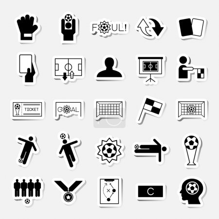 Soccer sticker icons set vector illustration