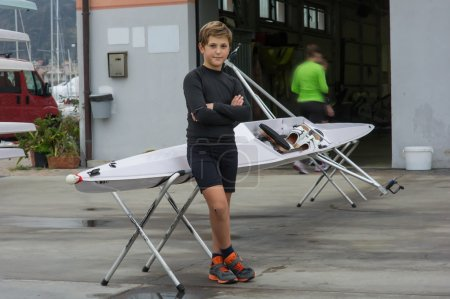 Child to rowing course