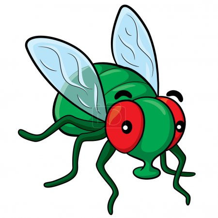 Illustration for Illustration of cute cartoon fly. - Royalty Free Image