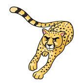 Illustration of cute cartoon cheetah