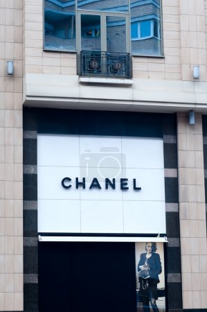 Chanel retail store exterior.