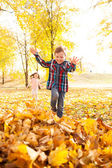Autumn fun in the park
