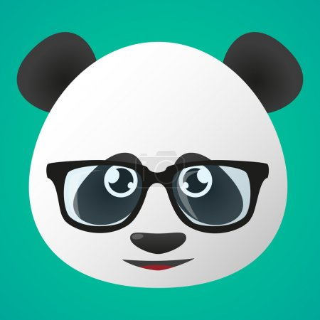 Illustration of a panda avatar wearing glasses...