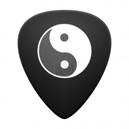 Guitar pick with a ying yang