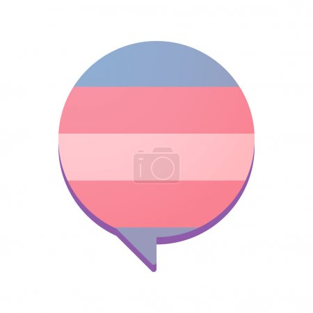 comic balloon with a transgender pride flag