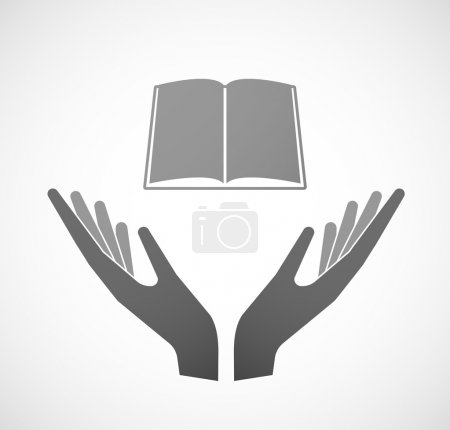 Two hands offering a book