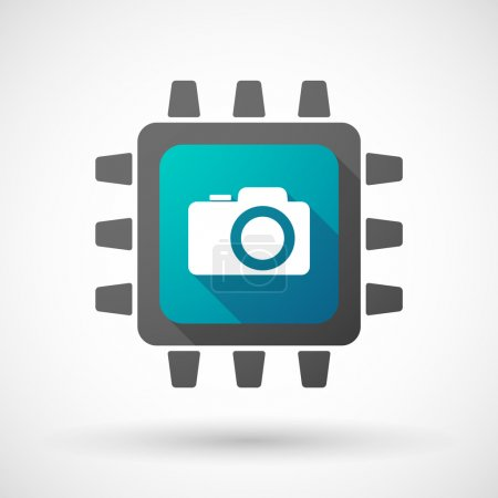 CPU icon with a photo camera