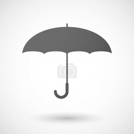 Grey umbrella icon