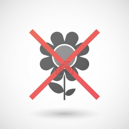Not allowed icon with a daisy