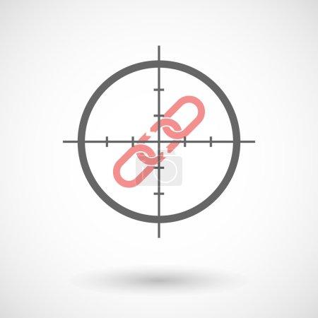 Crosshair icon targeting a broken chain