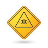 Illustration of an awareness sign with an all seeing eye