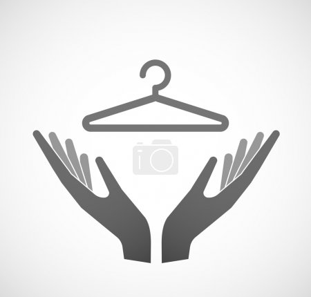 Two hands offering a hanger