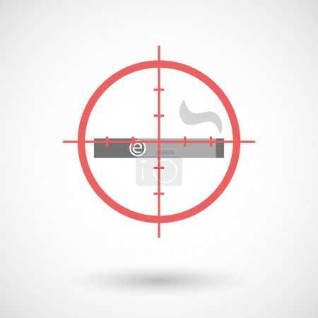 Red crosshair icon targeting an electronic cigarette
