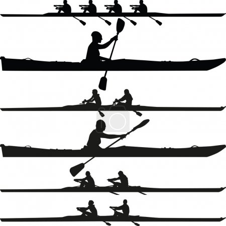 kayak silhouette vector