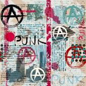 Grunge newspaper with word Punk