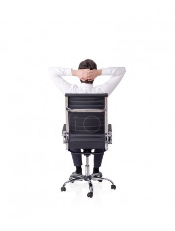 Man on chair relaxing
