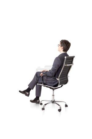 Businessman on chair