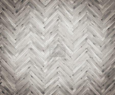 Photo pour Parguet en bois. Vue de dessus, noir et blanc. Concept de décoration de maison. rendu 3D - image libre de droit