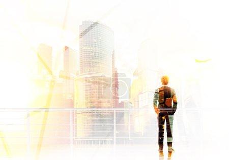 Businessman and bright future